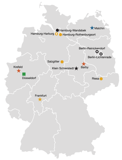 Locations Germany map
